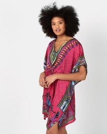Joy Collectables Short Kaftan African Theme Pink
