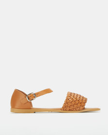 Utopia Woven Sandals Tan