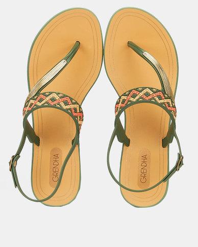 Grendha Exclusiva Sandal Green