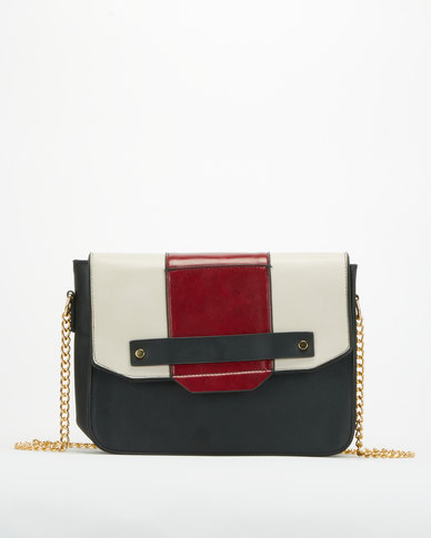 Utopia Colour-Block Crossbody Bag Black