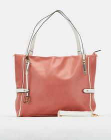 Utopia Contrast Handbag Rust