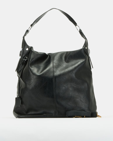 Utopia Slouchy Handbag Black