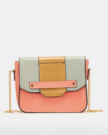 Utopia Colour-Block Crossbody Bag Salmon