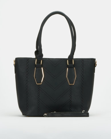 Utopia Laser Handbag Black