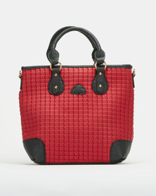 Utopia Quilted Handbag Red