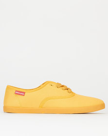 Pierre Cardin Canvas Sneakers Mustard