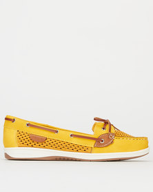 Pierre Cardin Boat Shoes Yellow