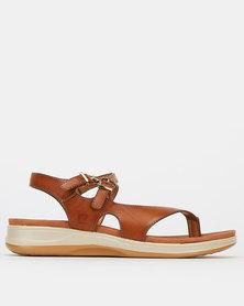 Pierre Cardin Strap Toe Post Sandals Tan
