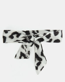 All Heart Leopard Skinny Scarf Snow