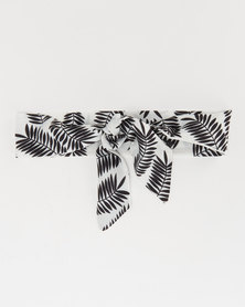 All Heart Tropics Skinny Scarf Monochrome
