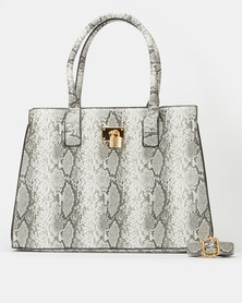 All Heart Animal Print Tote Bag Grey