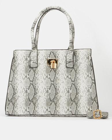 All Heart Animal Print Tote Bag Grey