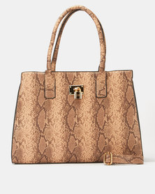 All Heart Animal Print Tote Bag Tan