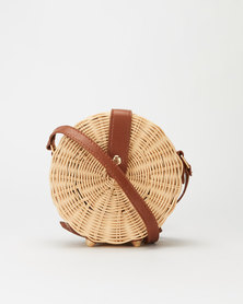 All Heartl Woven Circle Crossbody Bag Neutral