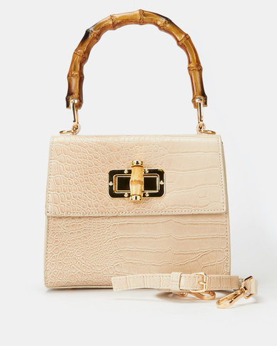 All Heart Wood Handle Bag Neutral