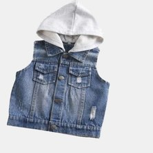 Boys Are Kings Sleeveless Jacket Blue
