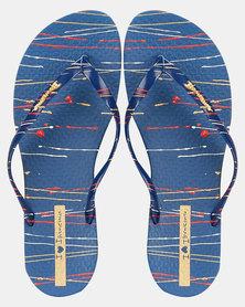 Ipanema  Wave Fem Art Fem Sandals Blue/Gold