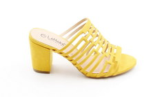 LaMara Paris Sara block heel slip on yellow