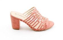 LaMara Paris Sara block heel slip on Dusty pink