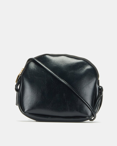 All Heart Zip Detail Crossbody Bag Black