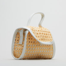 All Heart Woven Crossbody Bag White