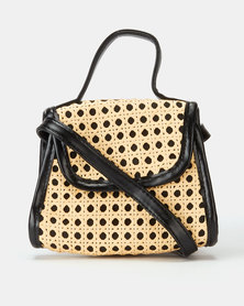 All Heart Woven Crossbody Bag Black