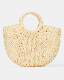 All Heart Woven Basket Handbag Neutral