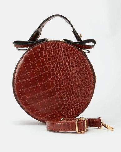 All Heart Circle Wristlet Bag Tan