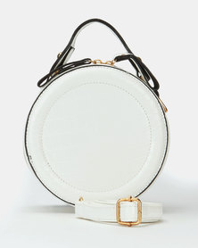 All Heart Circle Wristlet Bag White