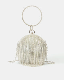 All Heart Glitter Ball Bag Silver