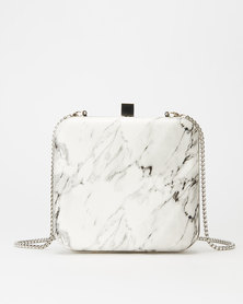 All Heart Marble Crossbody Bag Grey