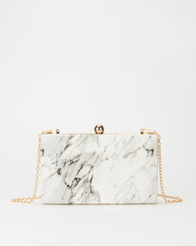 All Heart Rectangle Marble Crossbody Bag Grey
