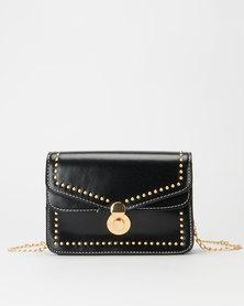 All Heart Stud Crossbody Bag Black