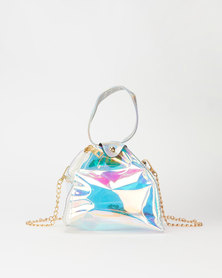 All Heart Mini Triangle Bag Silver
