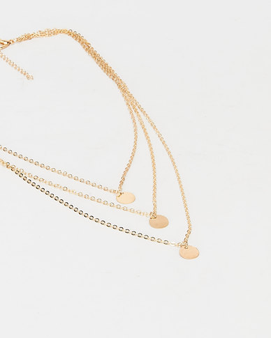 All Heart Layered Necklace Gold-tone