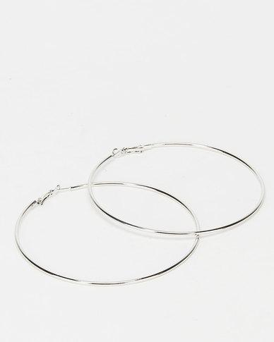 All Heart Hoop Earrings Silver-tone