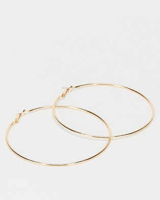 All Heart Hoop Earrings Gold-tone
