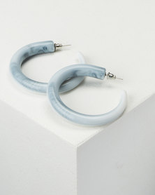 All Heart Ombre Mini Hoop Earrings Blue
