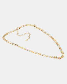 All Heart Chain Linked Necklace Gold-tone