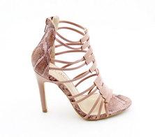 LaMara Paris Cassy snakeprint sandal pink