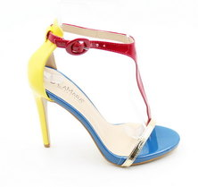 LaMara Paris Milano multicolour heel sandal yellow