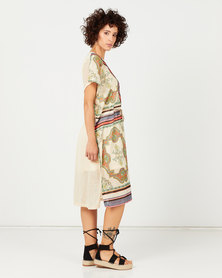 Cath Nic By Queenspark Printed Knit Dress Multi