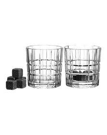 Leonardo Whisky Glasses with 8 Ceramic Stones Spiritii 360ml Set of 2