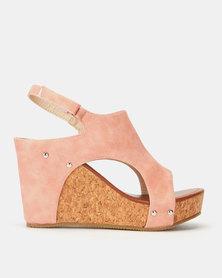 Footwork Laurabeth Wedges Light Pink