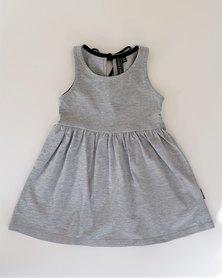 Lola&Peach Girls Summer Knit Dress Grey Melange
