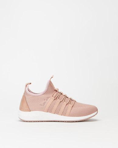 sale usa online sleek popular stores Pierre Cardin Knit Sneakers Pink