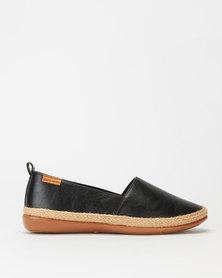 Pierre Cardin Super Soft Espadrille Flats Black