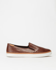 Pierre Cardin Slip On Sneakers Brown