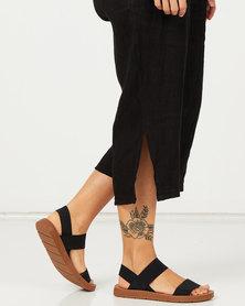 Pierre Cardin Elasticated Sandals Black