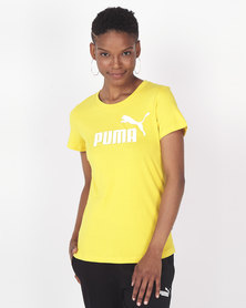 Puma Sportstyle Core Amplified Tee Sulphur Yellow